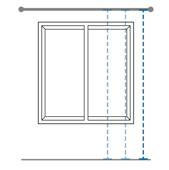 Measuring Drop of Curtains